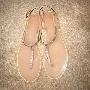 Sparkly Nude Sandals